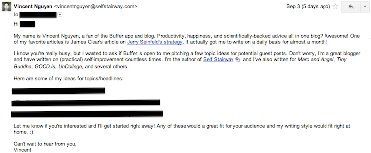 My pitch to Buffer's blog