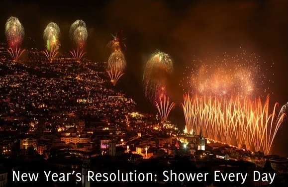 New Years Resolution- Shower Every Day