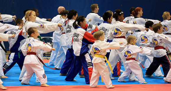 Picture of Kids Taking Taekwondo Classes