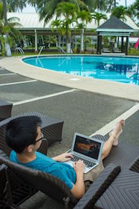 Working Poolside